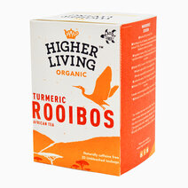 Higher Living Organic Rooibos Turmeric Tea (20 bags / 28g) by Raw Bites