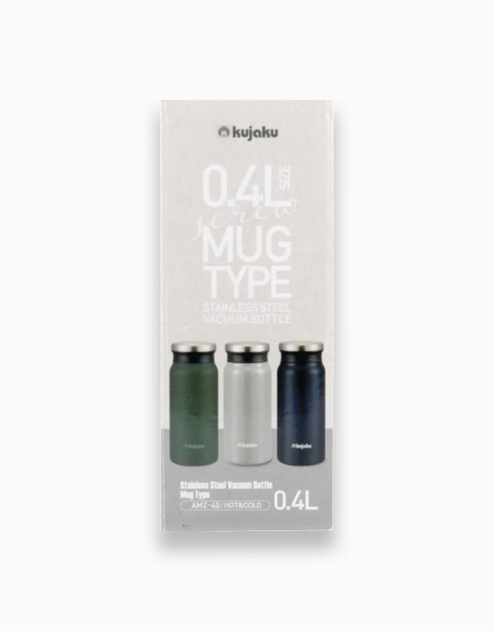 Double Wall Stainless Steel Vacuum Bottle (400ml) by Kujaku   Indigo