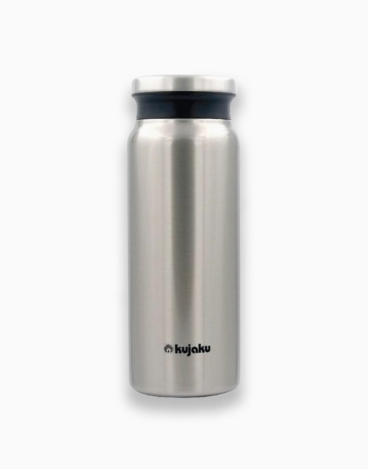 Double Wall Stainless Steel Vacuum Bottle (600ml) by Kujaku | Silver