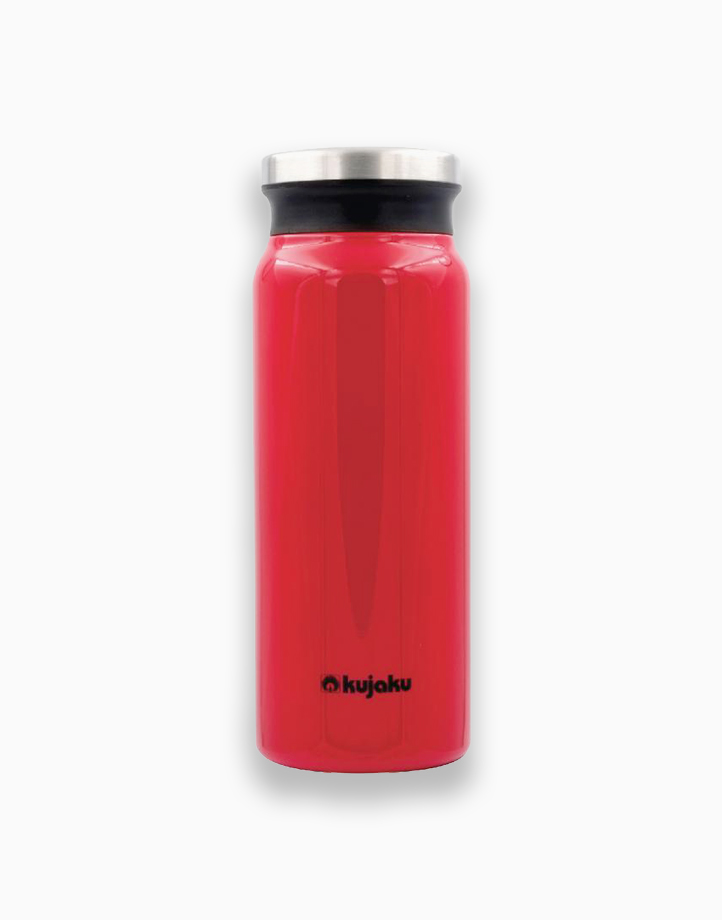 Double Wall Stainless Steel Vacuum Bottle (600ml) by Kujaku | Red