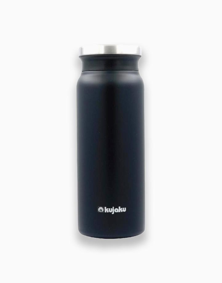 Double Wall Stainless Steel Vacuum Bottle (600ml) by Kujaku | Black