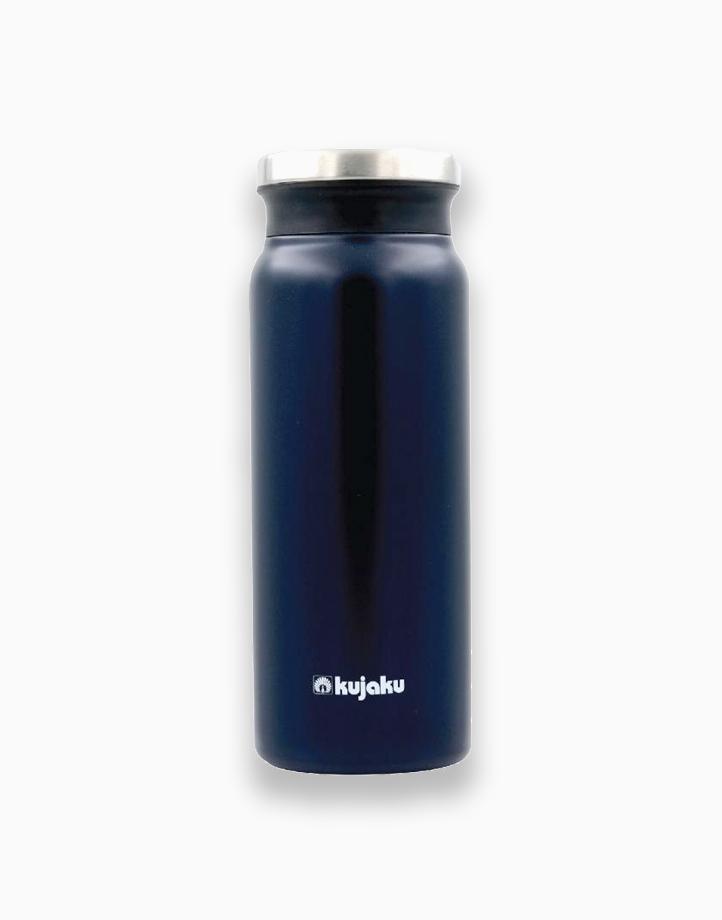 Double Wall Stainless Steel Vacuum Bottle (600ml) by Kujaku | Indigo