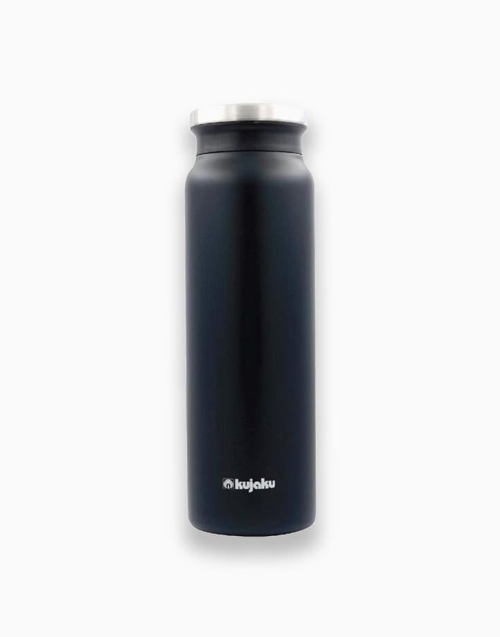 Double Wall Stainless Steel Vacuum Bottle (800ml) by Kujaku   Black