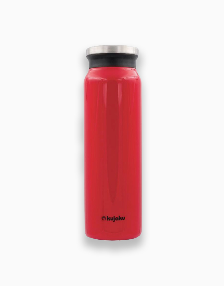 Double Wall Stainless Steel Vacuum Bottle (800ml) by Kujaku   Red