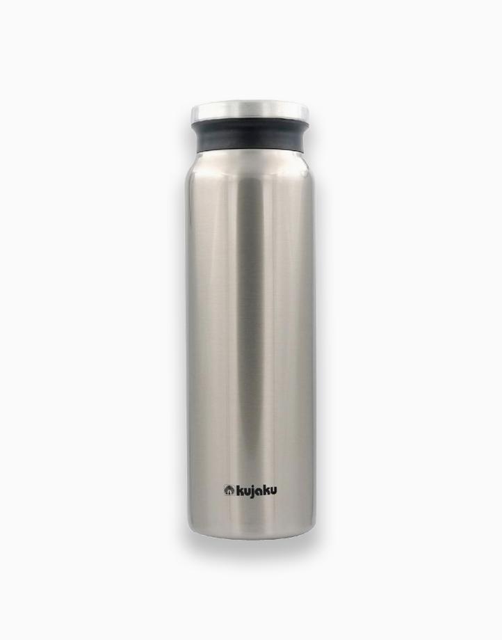 Double Wall Stainless Steel Vacuum Bottle (800ml) by Kujaku   Silver