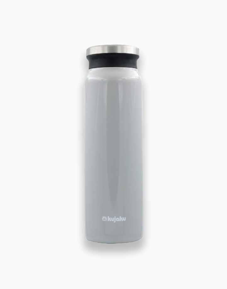 Double Wall Stainless Steel Vacuum Bottle (800ml) by Kujaku   Ash White