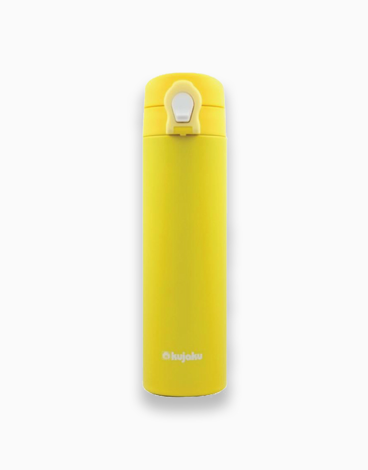 One Touch Double Wall Stainless Steel Vacuum Bottle (500ml) by Kujaku | Yellow