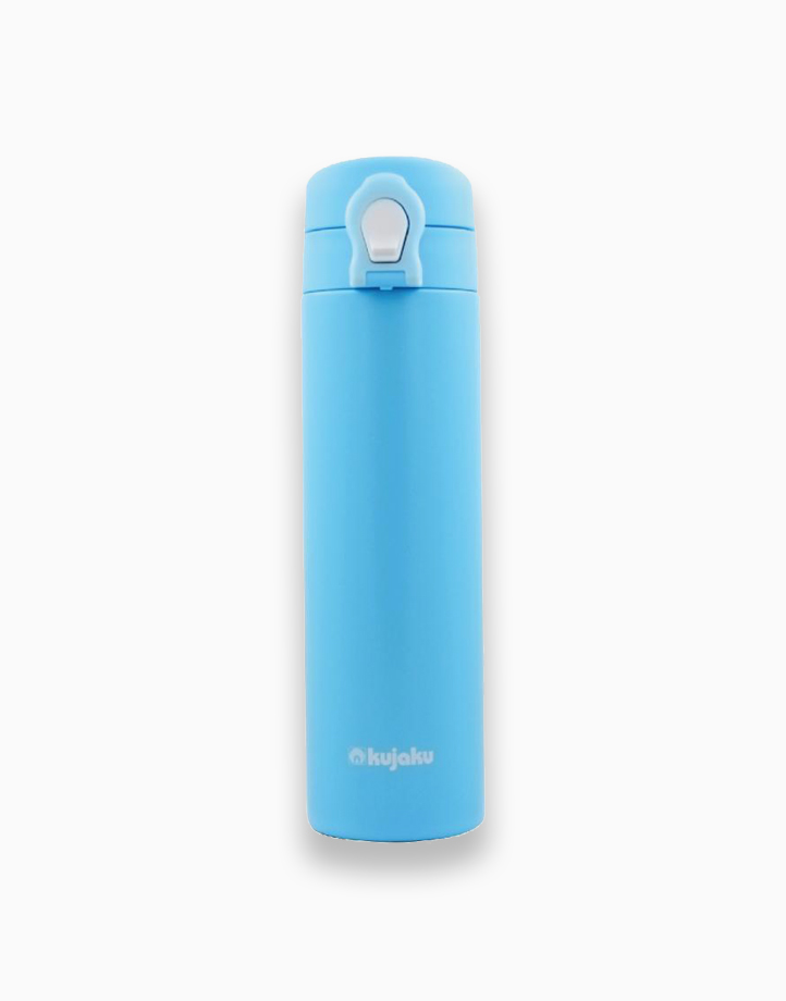 One Touch Double Wall Stainless Steel Vacuum Bottle (500ml) by Kujaku | Pearl Blue