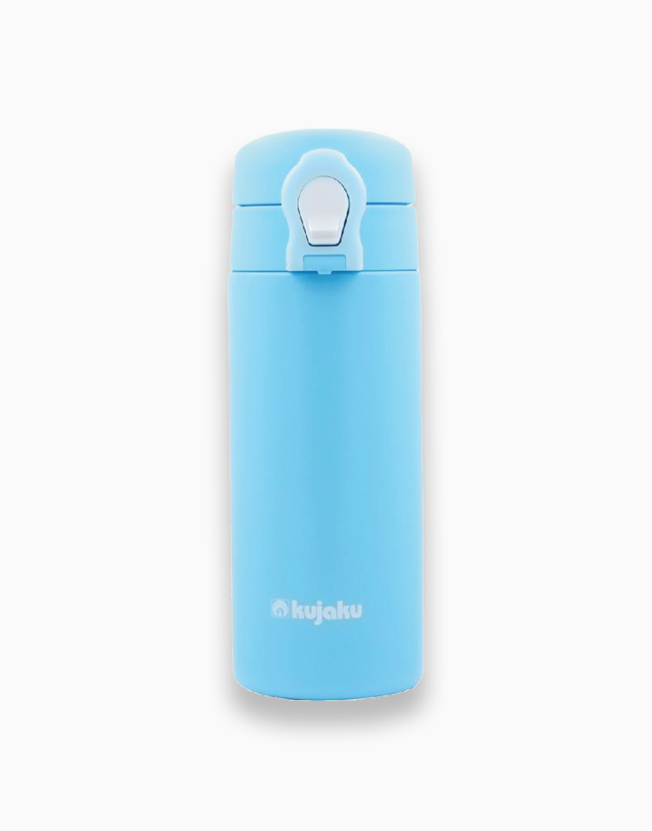 One Touch Double Wall Stainless Steel Vacuum Bottle (350ml) by Kujaku   Pearl Blue