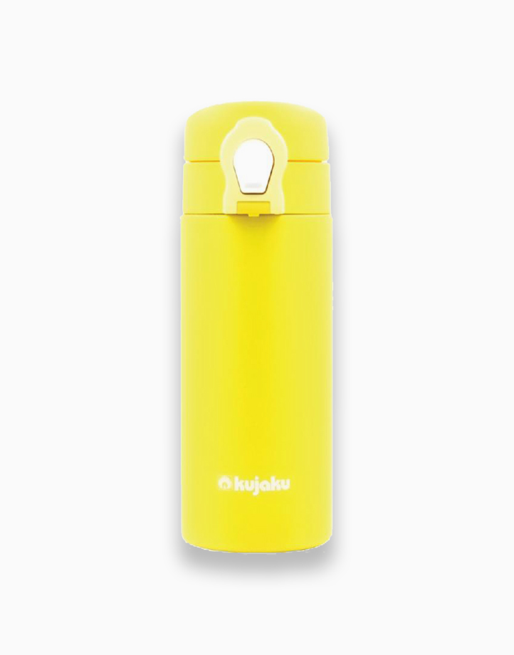 One Touch Double Wall Stainless Steel Vacuum Bottle (350ml) by Kujaku   Yellow