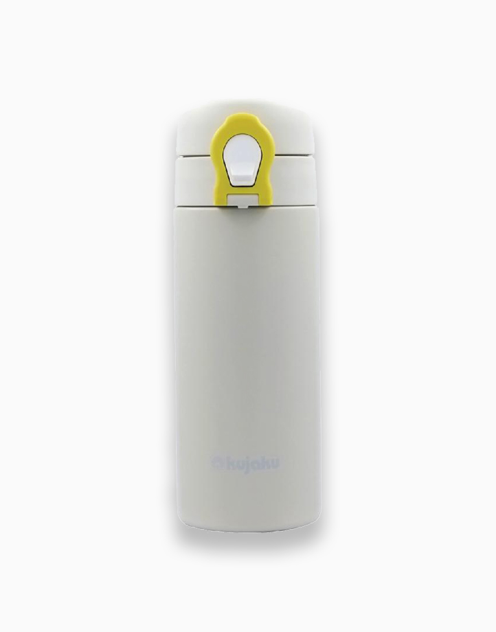 One Touch Double Wall Stainless Steel Vacuum Bottle (350ml) by Kujaku   White