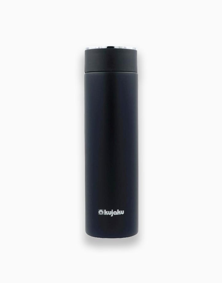 Stainless Steel Slim Bottle (500ml) by Kujaku   Black