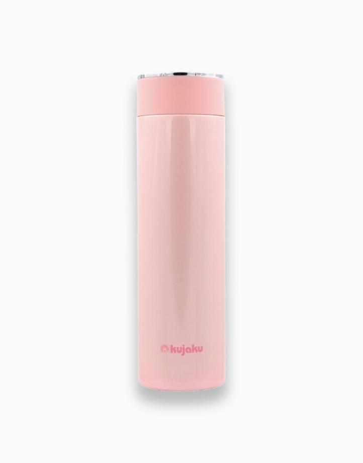 Stainless Steel Slim Bottle (500ml) by Kujaku   Red Pink