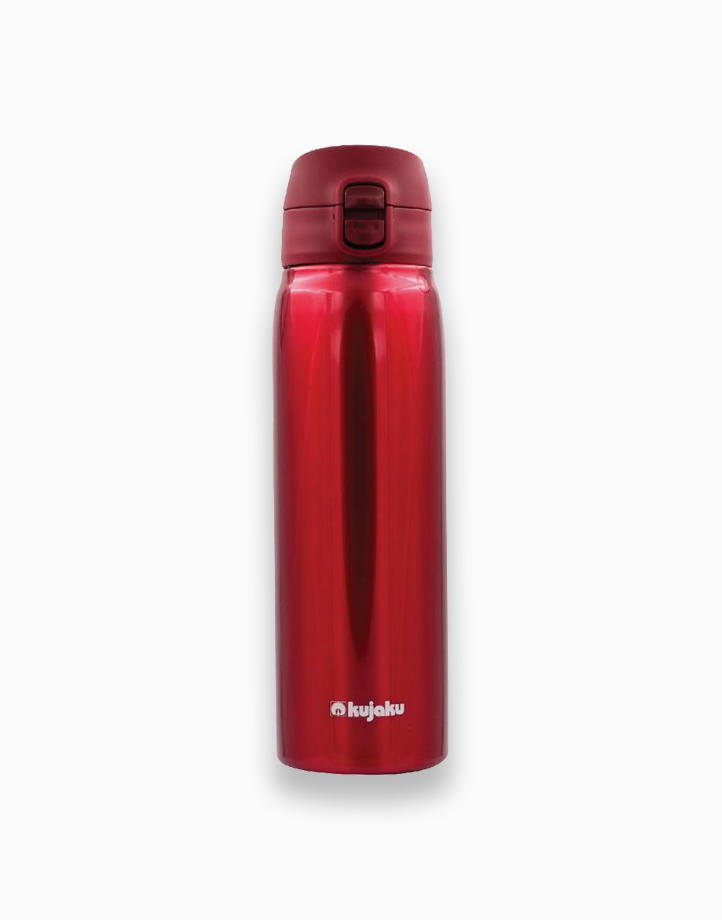 One Touch 700ml Double Wall Stainless Steel Vacuum Bottle by Kujaku | Red