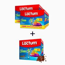 Lactum 3+ Plain (3.2kg) + Lactum 3+ Choco (1.2kg) (Buy 2, Take 1) by Lactum
