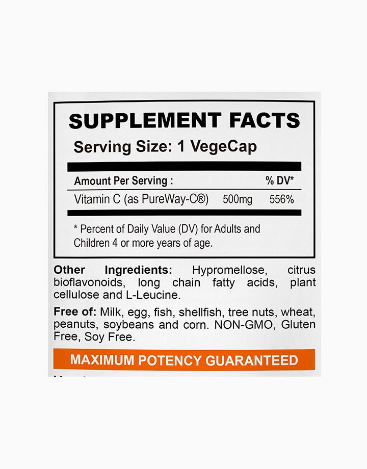 Vitamin C Pureway-C 500mg, Superior Absorption (60 Vegetarian Capsules) by My Happy Formula