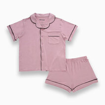 Kelly Mauve Pink Adult Short Sleeves + Shorts Set by Bear the Label