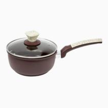 Xyan Aluminum Ceramic Coating Sauce Pan (18cm) by Omega Houseware