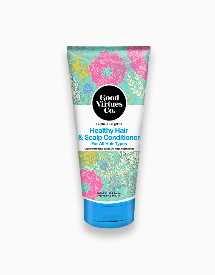 Helpful & Delightful Healthy Hair & Scalp Conditioner for All Hair Types (300ml) by Good Virtues Co