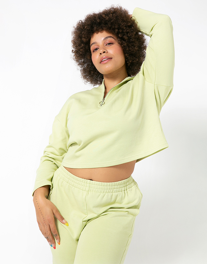 Comfort Zone Pullover in Pandan by Recess | M