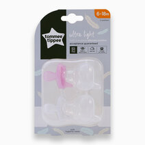Ultralight Silicone Soother 6-18m Pack of 2 by Tommee Tippee