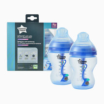 Closer to Nature Advanced Anti Colic Decorated Bottle (9oz) - Pack of 2 by Tommee Tippee