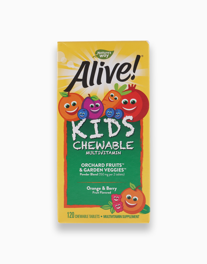Alive! Kid's Chewable Multivitamin, Orange & Berry (120 Chewable Tablets) by Nature's Way