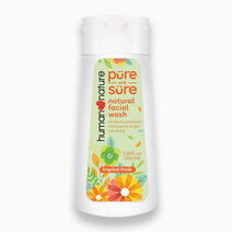 Pure & Sure Facial Wash - Tropical Fresh (100ml) by Human Nature