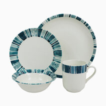 Boheme Blue 16-piece Ceramic Dinner Set by Claytan