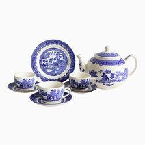 Willow 14-piece Ceramic Tea Set by Claytan