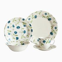 Elegant Floral 20-piece Ceramic Dinner Set by Claytan