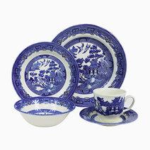 Willow 20-piece Ceramic Dinner Set by Claytan