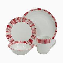 Boheme Pink 16-piece Ceramic Dinner Set by Claytan