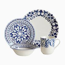 Henna 16-piece Ceramic Dinner Set by Claytan