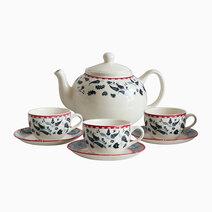 Cachemire 14-piece Ceramic Tea Set by Claytan