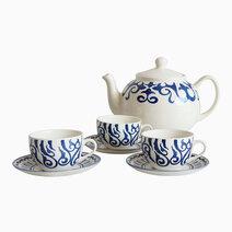 Henna 14-piece Ceramic Tea Set by Claytan