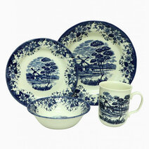 Windmill Blue 16-pc Dinner Set by Claytan