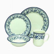 Aster-Blue 16-pc Dinner Set by Claytan