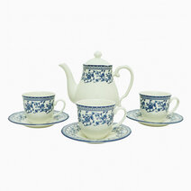 Aster-Blue 14-pc Tea Set by Claytan