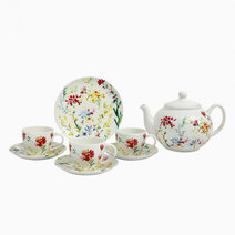 Spring Floral 14-pc Hi-Tea Set by Claytan