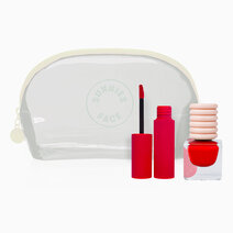 Bright Lips and Tips (Reds) [Lipstick, Nail Polish, and Makeup Kit Set] by Sunnies Face