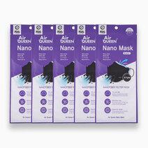 Nanofiber Filter Mask (Black) - 5 pcs. by AirQueen
