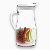 Misket Glass Pitcher with White Lid 1.8L by Lav