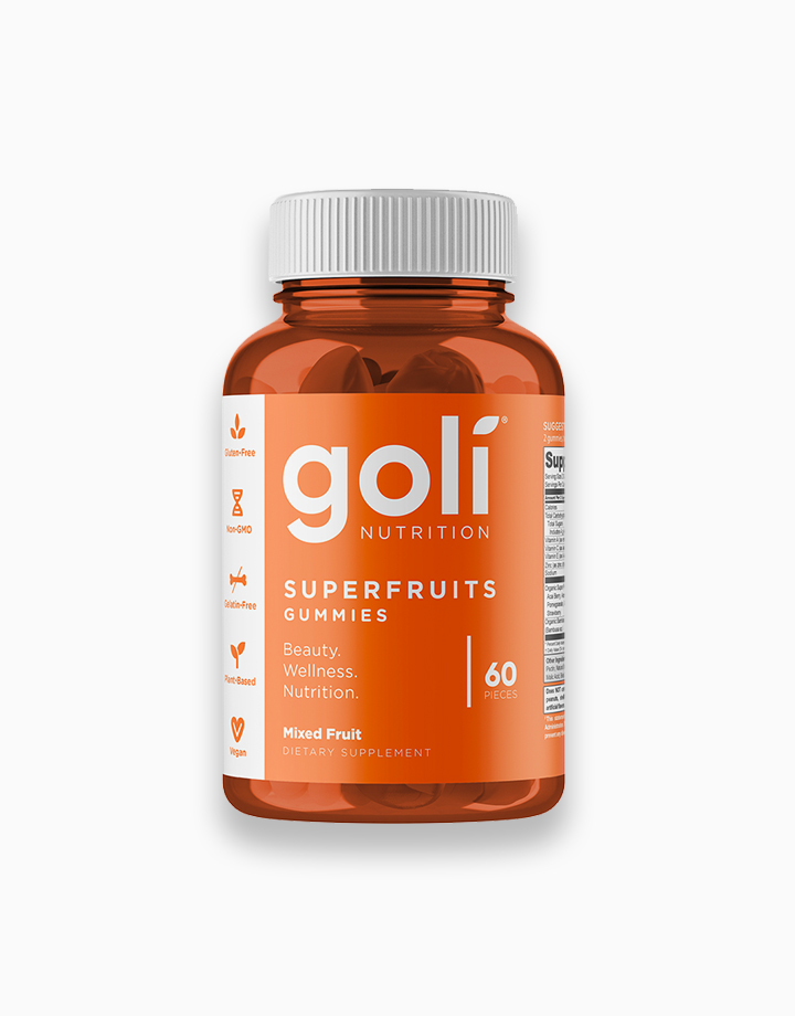 Superfruits Gummies with Collagen, Mixed Fruit, Vegan, Plant-Based, Non-GMO, Gluten-Free & Gelatin Free (60 Pcs.) by Goli