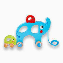 Pull Along Elephant Family by Tooky Toy