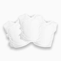 3-piece Sleeveless Tie-Side (White) by Cotton Stuff