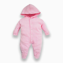 Long Sleeve Sleeper with Hood (Pink) by Cotton Stuff