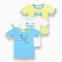 3-Piece T-Shirt for Boys (Silly Sayings) by Cotton Stuff