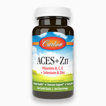 ACES + Zn (60 Soft Gels) Vitamin A, C, and E Selenium and Zinc by Carlson