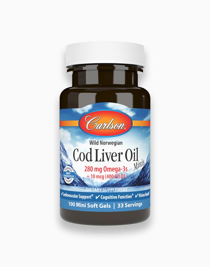Cod Liver Oil 280 mg Omega-3s, 100 Mini Soft Gels by Carlson
